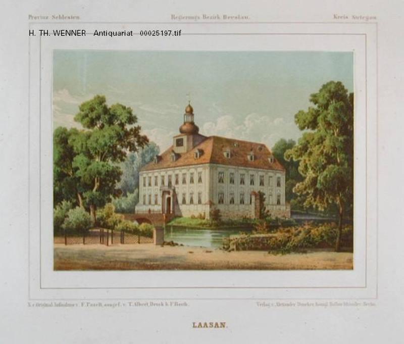 Laasan Lazany Striegauer Wasser Ansicht Wasserschlosses
