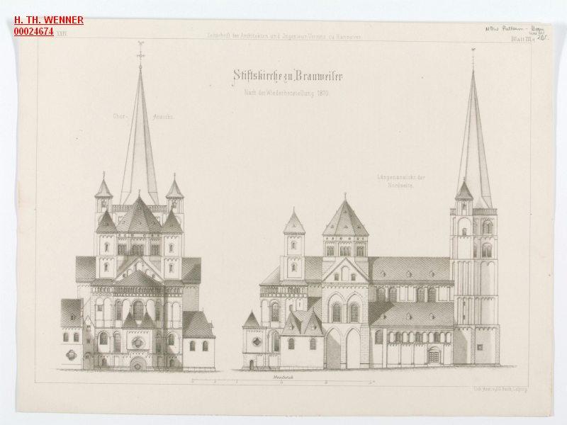 pulheim brauweiler stiftskirche wiederherstellung abteikirche darstellungen bauzeichnungen. Black Bedroom Furniture Sets. Home Design Ideas